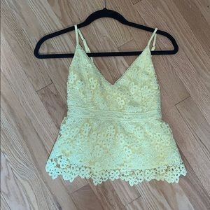 Yellow Abercrombie tank top